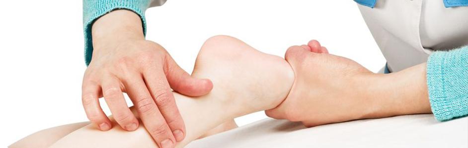 Massage pied enfant